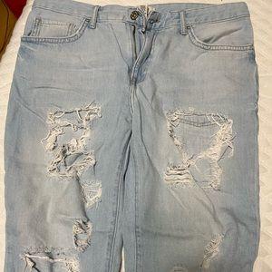 Capris or loose jeans